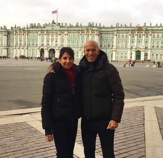 Зинедин Зидан с супругой